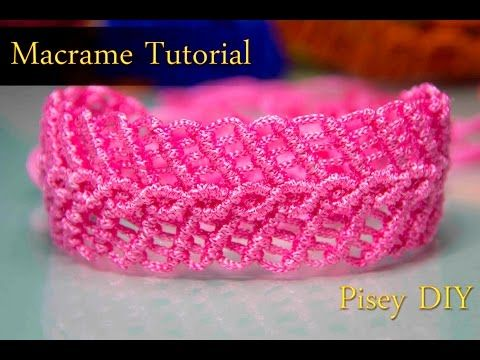 Macramé Herringbone bracelet Macrame Tutorial /Friendship Bracelets / Projects - YouTube