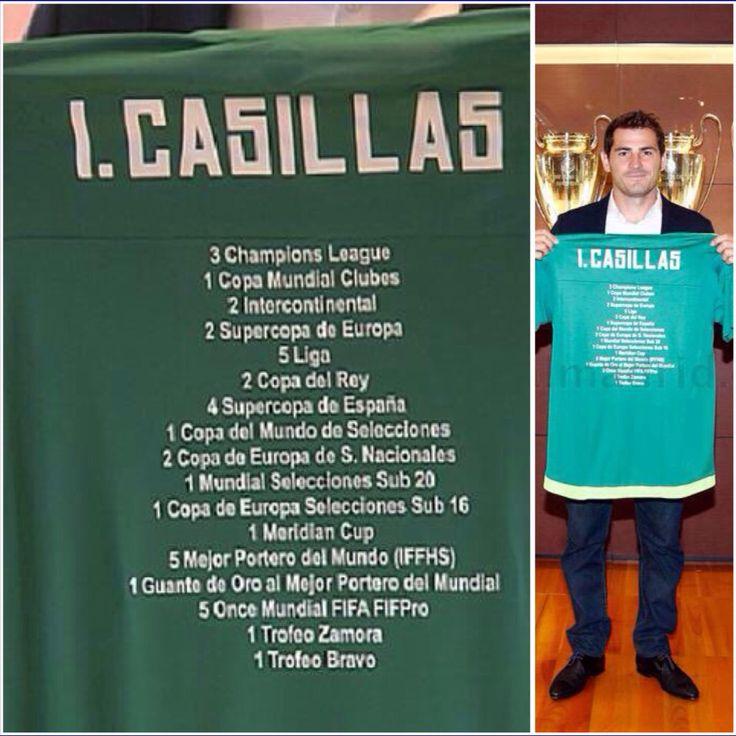 Iker Casillas #IK1 Real Madrid palmares