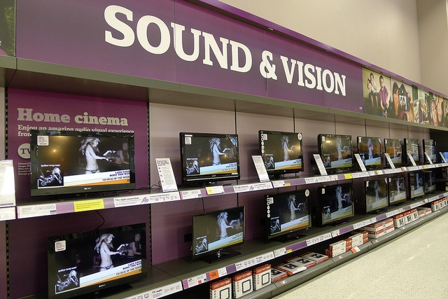 A wall of sound and vision, via Flickr.