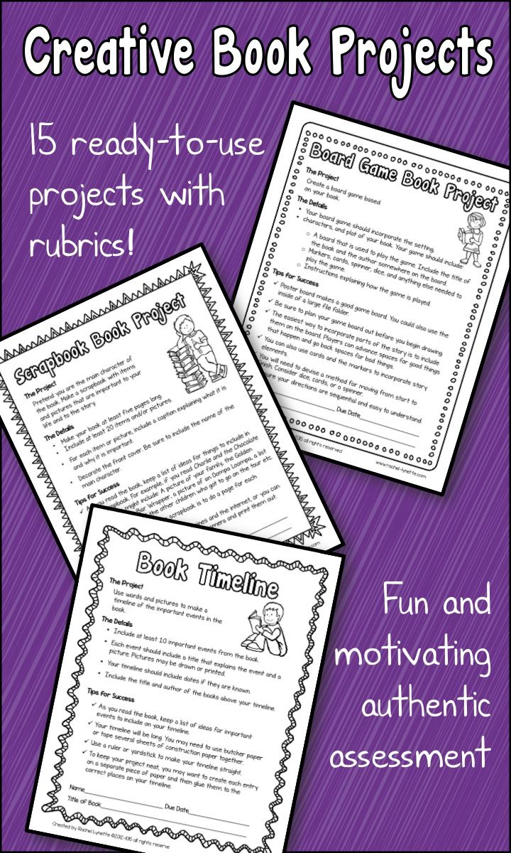 Book Report Projects With Grading Rubrics  Ready To Use
