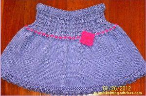 Sweet and Simple Skirt | AllFreeKnitting.com