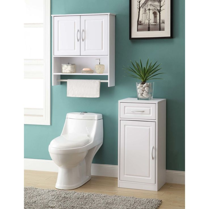 Features: -Bathroom base cabinet. -With one door. Product Type: -Cabinet. Style: -Modern. Finish: -White. Primary Material: -Manufactured wood. Mount Type: -Free standing. Door Configuration: