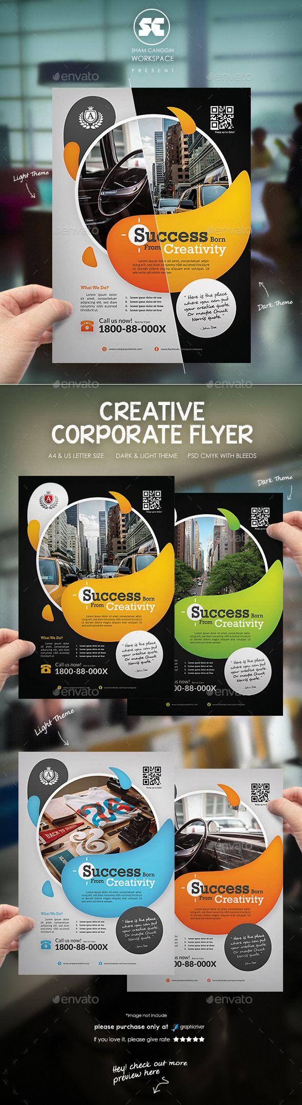 Creative Corporate Flyer Template #design Download: http://graphicriver.net/item/creative-corporate-flyer/12236562?ref=ksioks
