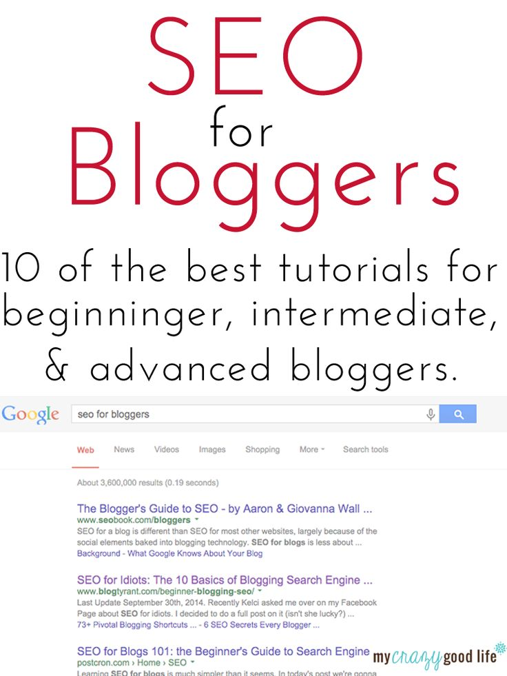 10 SEO tutorials for bloggers - from beginner to advanced tips