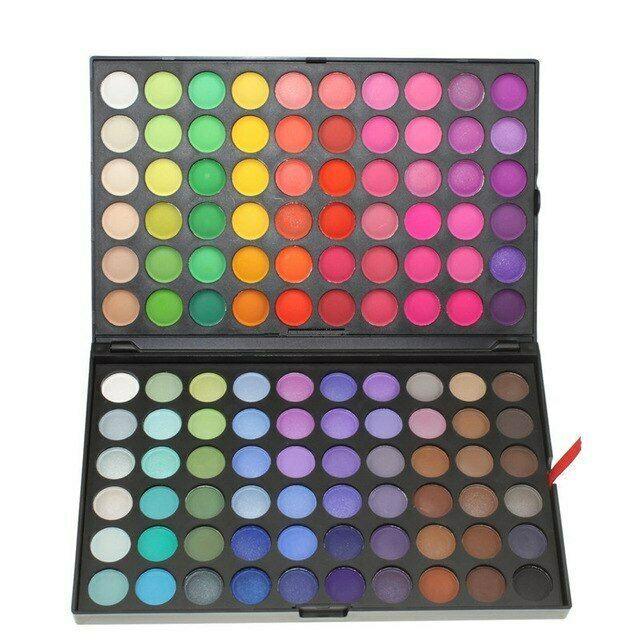 Hot Paleta De Sombras De Ojos 120 Colores Brillo Mate Maquillaje