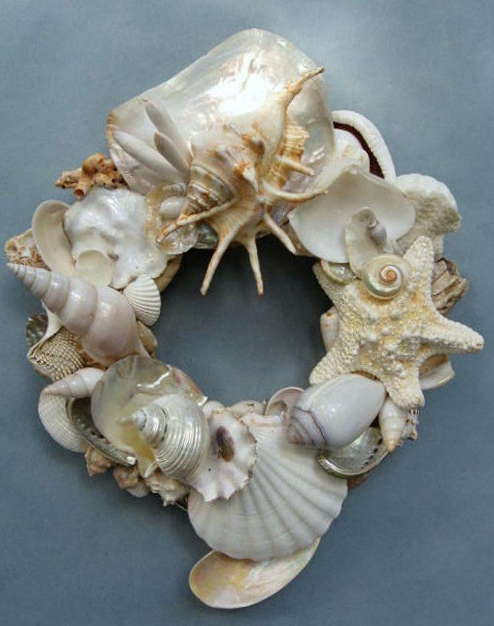 White Shell Wreath-SW79