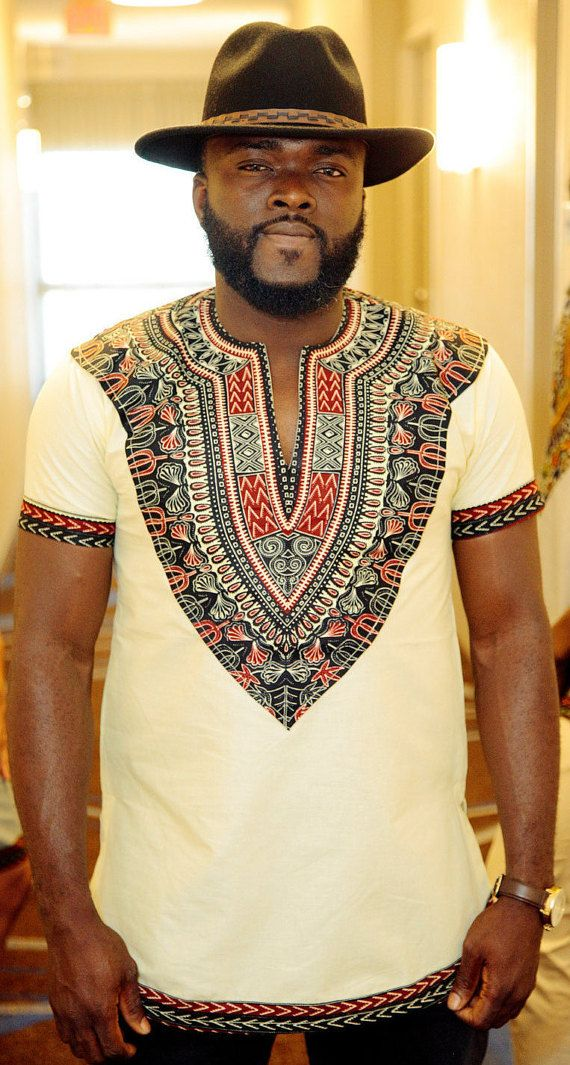 Men's African Dashiki, Men's African Wear, African Print, African Designs…