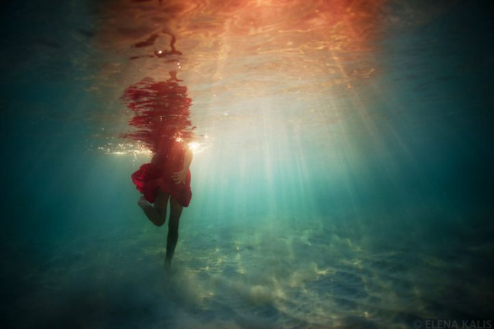 Underwater by Elena Kalis, water, light, color