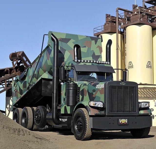 Tri Axle Show Trucks : Best dump trucks images on pinterest