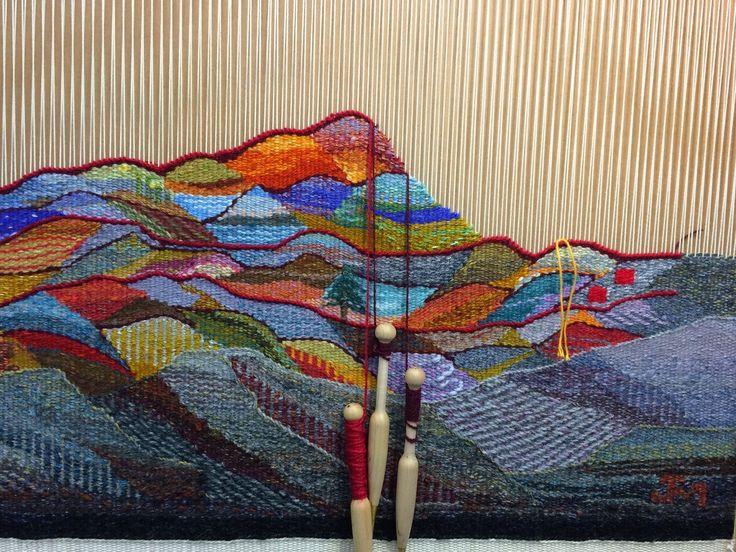 Janette Meetze 2015 tapestry diary in progress in March