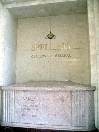 Aaron Spelling: Died of a stroke at 83. He is buried in the Hillside Memorial Park Cemetery, Culver City, CA
