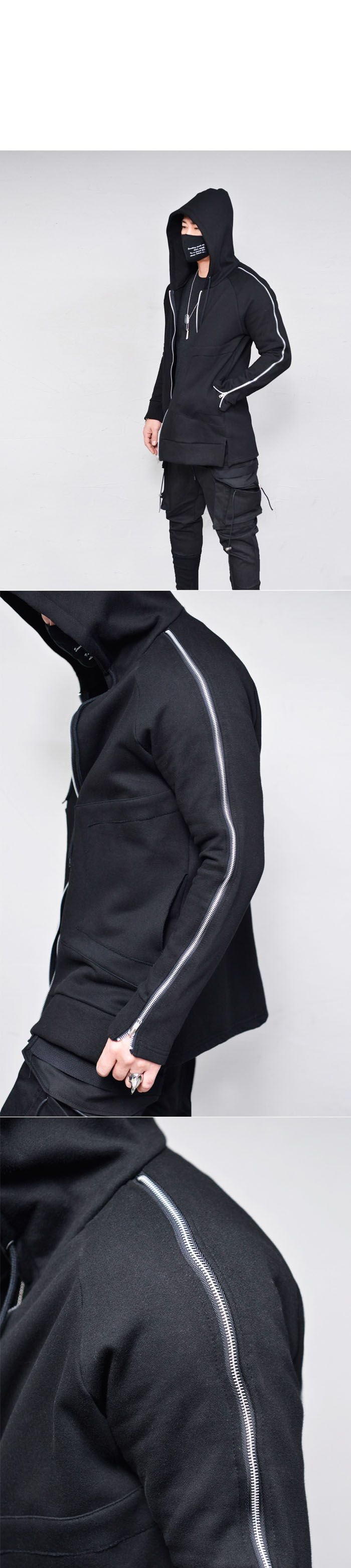 Power Zipper Hood Zipup-Hoodie 232 - GUYLOOK