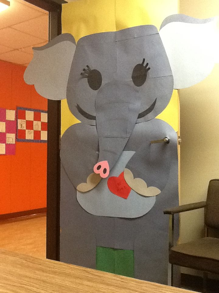 Elephant Door Decor Jungle Theme Classroom Circus