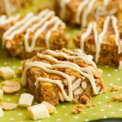 Bale Bars - NO BAKE bars chocked full of peanuts, peanut butter, white chocolate, and pretzels. Salty and sweet- my favorite kind of dessert!
