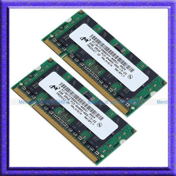 Micron 4GB 2x2GB PC2-6400 DDR2-800 800Mhz 200pin DDR2 800 Laptop 4G Memory SO-DIMM