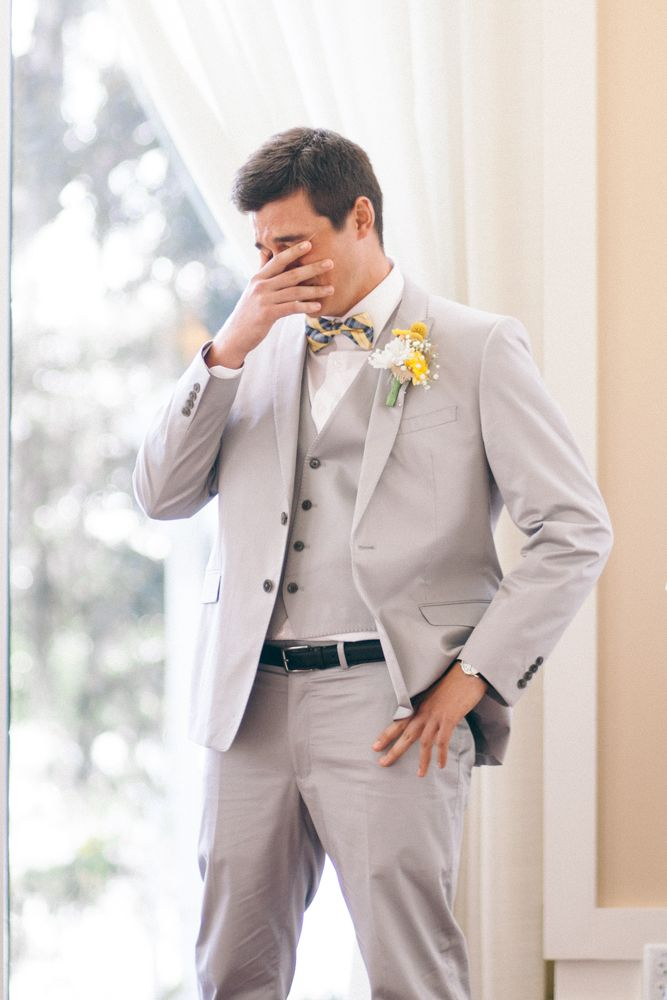 Best groom reaction! Zack + Elisha's Florida wedding by donnairenephotography.com