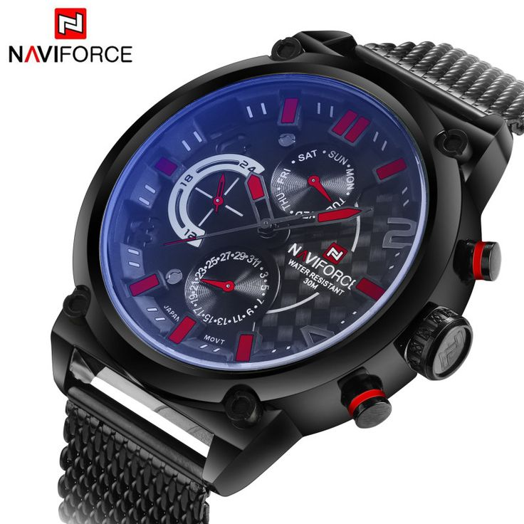 17 best images about exclusive sports watches top brand luxury quartz watches men mesh steel strap big dial date chronograph 24 hours sport watch waterproof male clock