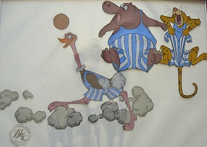 Disney Bedknobs and Broomsticks Original Production Cel Soccer