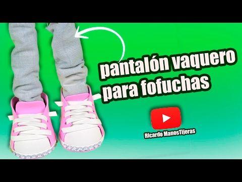 MANUALIDADES FOFUCHAS|PANTALÓN CON TELA VAQUERA o MEZCLILLA - YouTube