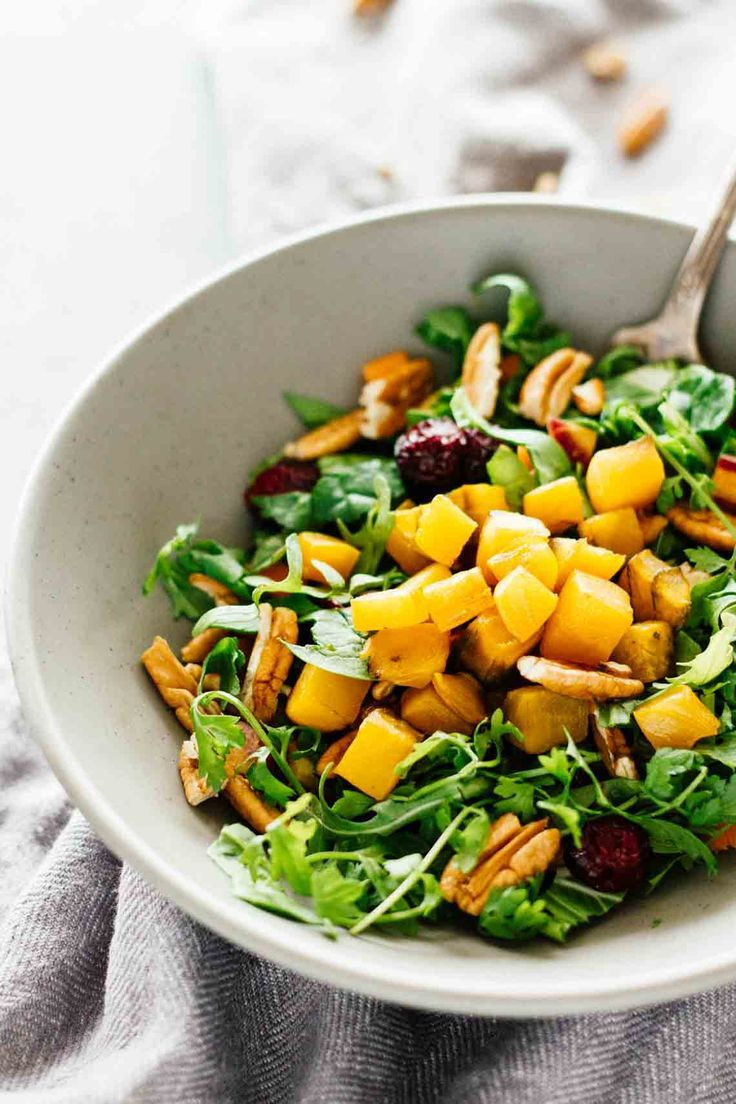Golden Beet Pecan Detox Salad! Healthy, easy to make, and delicious! It's also vegan, vegetarian, and gluten-free :)