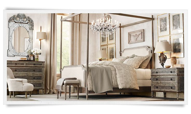 Rooms Restoration Hardware Love This Bedroom Especially The Padded Headboard Home Sweet