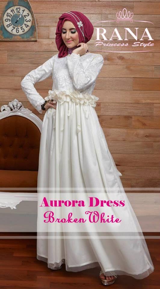 Aurora Dress Broken White Mempesona
