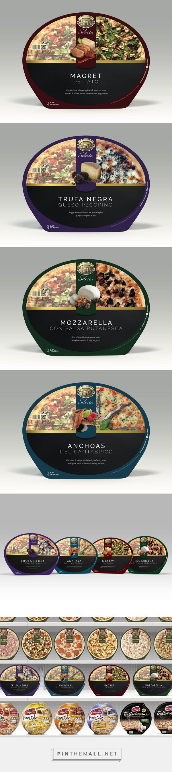 Selecta de Casa Tarradellas pizze (Student Project) by Andrea Ribera and Cristian Varela. Source: Behance. Pin curated by#SFields99 #packaging #design