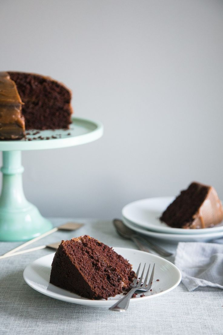 Vegan Chocolate Birthday Cake + Salted Caramel Date Frosting by The Green Life
