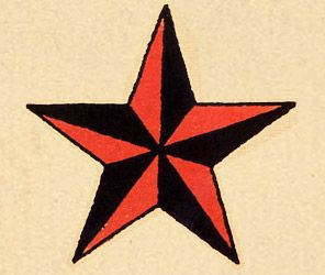 Nautical Star  Representing the North Star (historically used by sailors use for navigation) a nautical star was believed to keep a sailor on course. As such, they were also considered to help guide a sailor home.