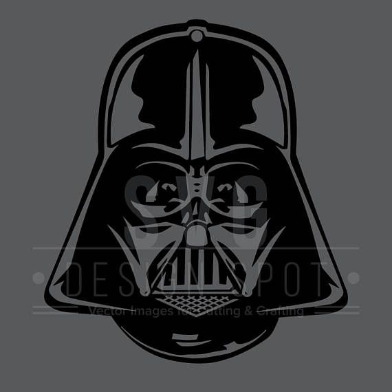 Darth Vader Head Front Svg Dxf Eps Png Star Wars Svg Darth Vader Darth Vader Head Vader