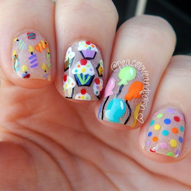 Happy Birthday Nails: 97 Best Images About Kids Nail Art On Pinterest