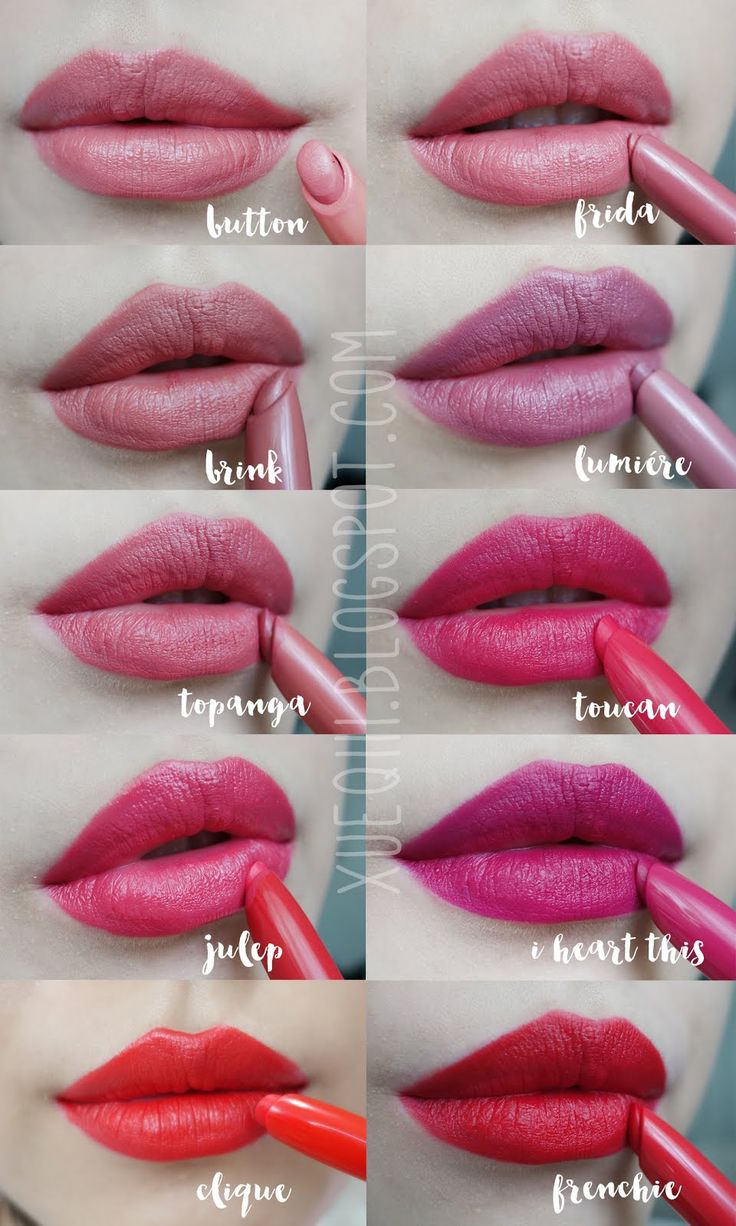 Colourpop Lippie Stix Swatches | Aquarius, Contempo, Button, Frida, Brink, Lumiére, Topanga, Toucan, Julep, I Heart This, Clique, Frenchie - Xueqi