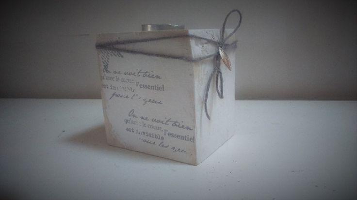 """Bougeoirs bois de palette """"Romantique"""" : Luminaires par lestresorsdisa68"""