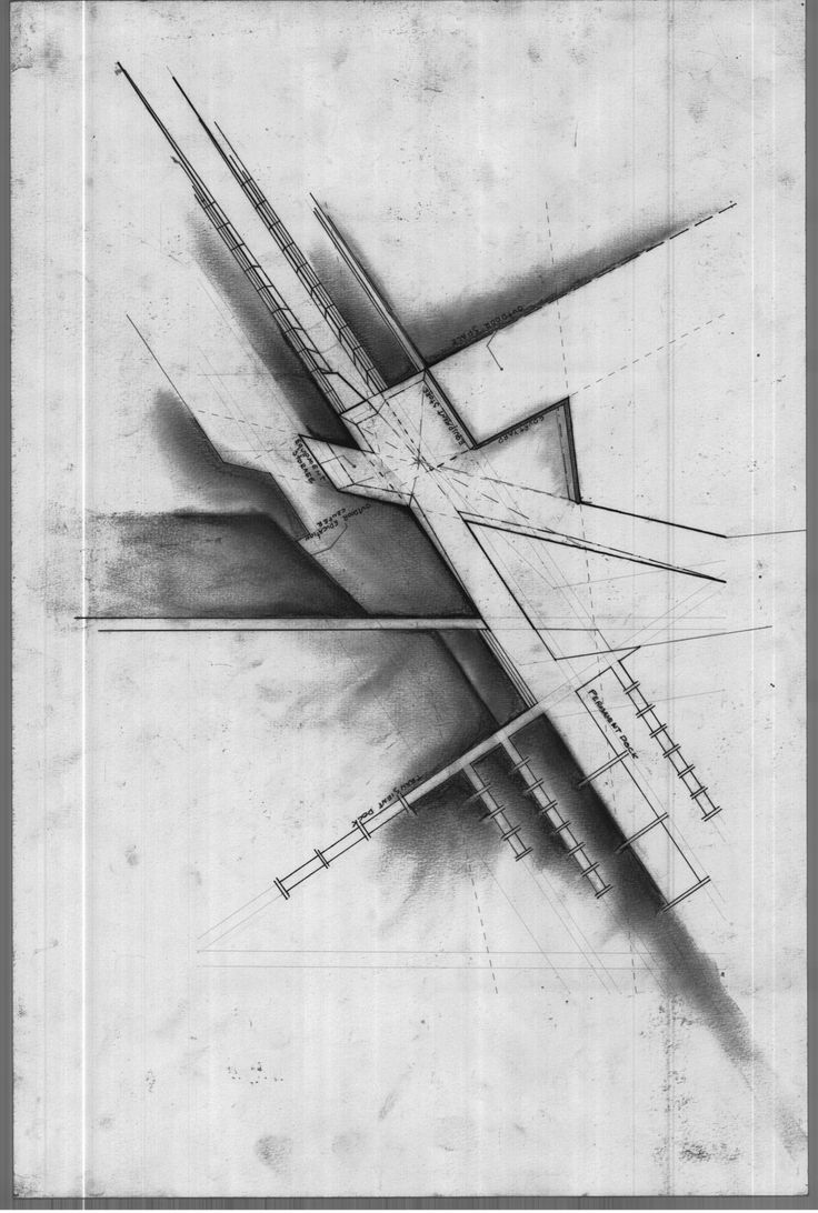 Architectural drawing by Martin F.  Beautiful work.