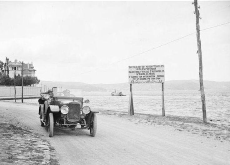 Hız sınırı saatte 12 km (Trabya 1920'li yıllar)