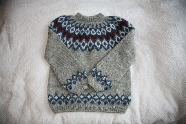 Icelandic Knitted Jumper in Stone £55.00