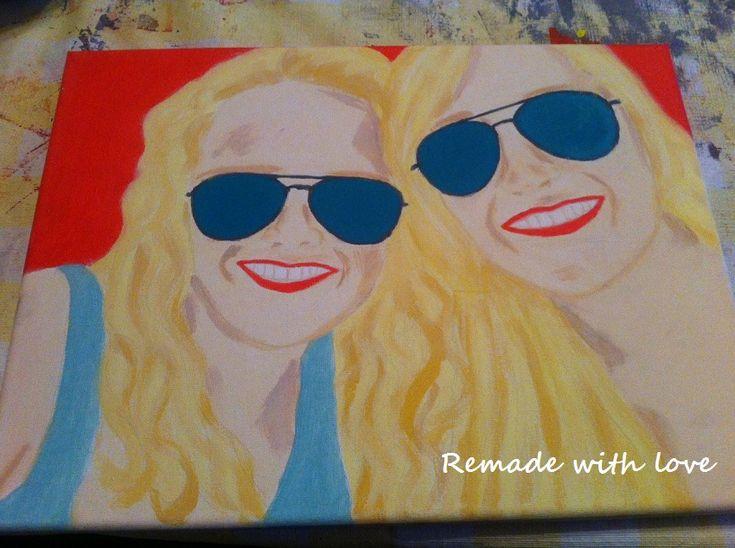 DIY: schilderij maken, lees op mijn blog www.remadewithlove.nl hoe eenvoudig het is om zelf een schilderij te maken met behulp van carbonpapier. #DIY #creatief #schilderen