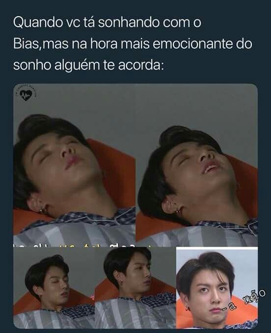 Já aconteceu , + não foi com bias , e nem do BTS, só teve um q tava o EXO inteiro o Wonho do MonstaX e o Suga, e teve outro que tava o BTS e o EXO (melhor sonho/mentira o melhor foi com o Baekhyun) <3
