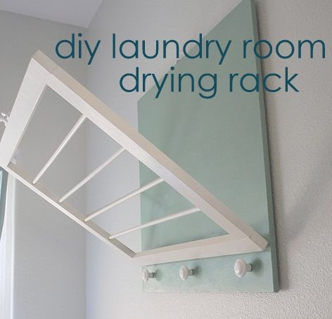 DIY laundry room drying rack - I just had put this in my rehab idea book too :)