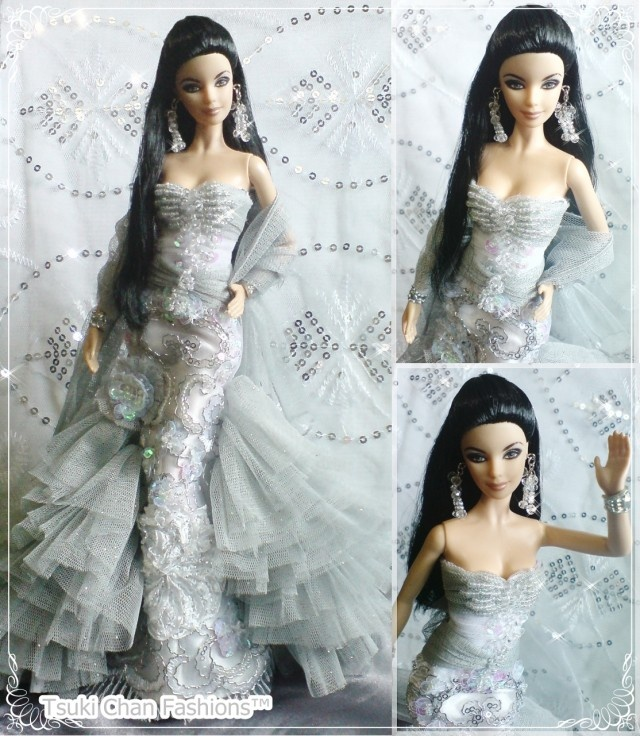 Elvis® and Priscilla Barbie® Doll and Elvis Doll Giftset Silver Modern Kebaya
