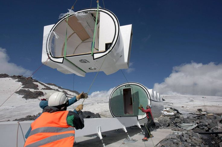 LEAPrus Alpine station on Russia's highest moutain, mount Elbrus, by torino-based LEAPfactory