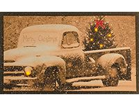 KP Creek Gifts - Christmas Truck Lit Canvas - for dad