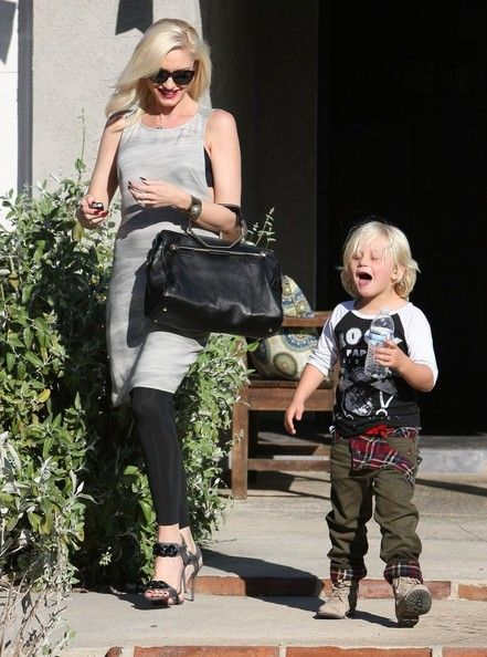Gwen Stefani takes her son Zuma to a baby shower