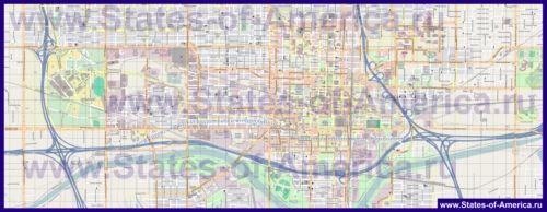 Подробная карта города Оклахома-Сити