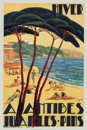 Antibes Hiver 1930 Vintage Fine Art Giclee Print