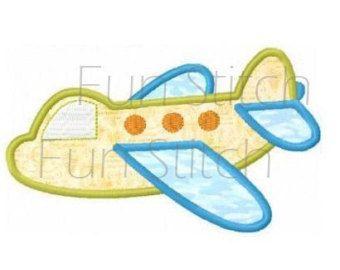 aereo aeroplano disegno di macchina da ricamo applique