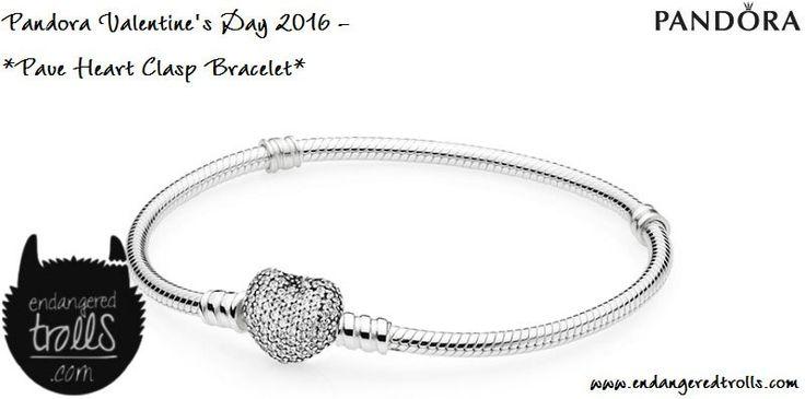 Pandora Pave Heart Clasp Bracelet