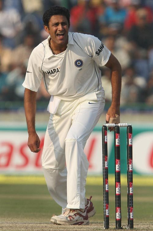 Ani lKumble, bowler, India has made a world record in cricket of taking ten wicketsin one innings