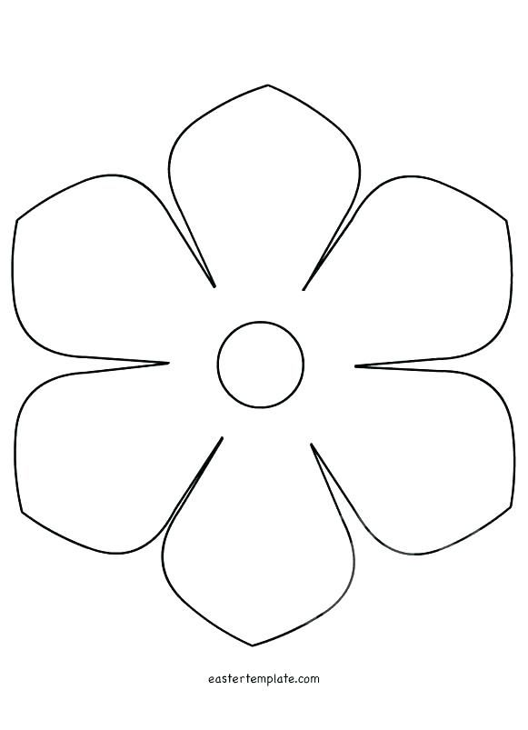 Printable Flower Template Free Pattern To Trace Templates Be Fresh