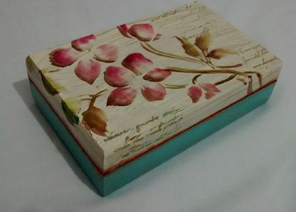 Como Fazer Artesanato Em Caixas De Mdf Decoupage Vintage Caixa